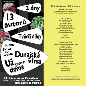 pozvánka 2015 - 3 dny, 13 autorů